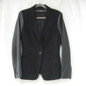 """Trina Turk 4 Fitted Leather Jacket  36"""" Bust"""
